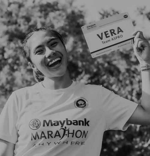 Athlete participating in Maybank Marathon Anywhere