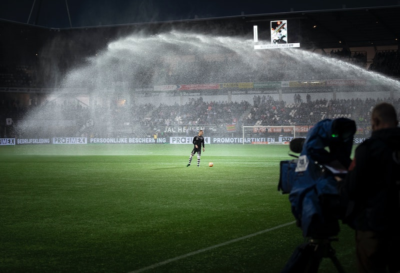 grass pitches and stadiums suffer the effects of climate change